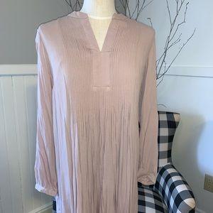 Long Sleeved Pink Dress